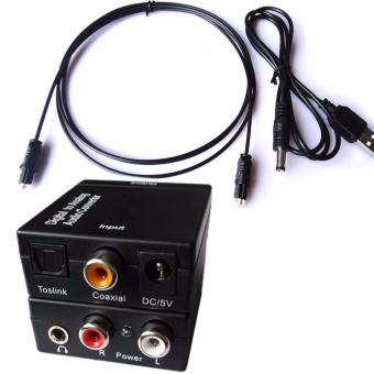 3.5mm Optical Toslink SPDIF Coax Digital to Analog Audio Converter Adapter RCA R/L - intl Price Philippines