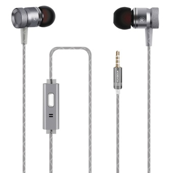 3.5mm Snake Style Wire Metal In Ear Earphones Stereo Bass Headphones Headset for iPhone Android Phone MP3 Grey - intl