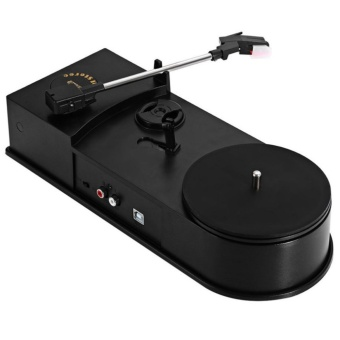 3.5mm USB 2.0 Mini Phonograph Turntable Record Audio Player Vinyl Turntable to MP3/WAV/CD Converter Support 33 / 45PRM Function - intl