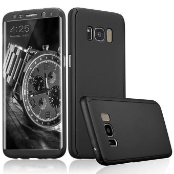 360 Degree All-around Full Body Slim Fit Lightweight Hard Protective Skin Case Cover for Samsung Galaxy S8 Plus (Black) - intl