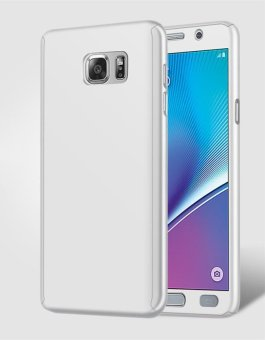 360 Degree All-around Full Body Slim Fit Lightweight HardProtective Skin Case Cover with Tempered Glass for Samsung GalaxyNote 5 - intl