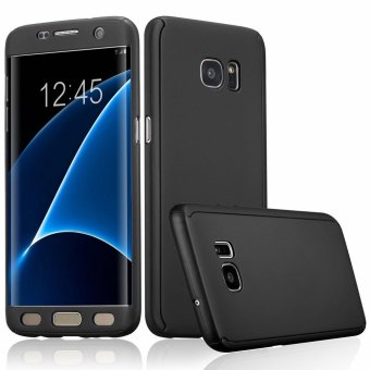 360 Degree Full Body Armor Case for Samsung Galaxy S7 Edge (Black)