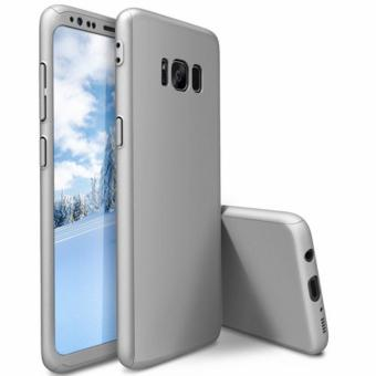 360 Degree Full Body Armor Case for Samsung Galaxy S8 Plus (Silver)