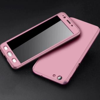360 Degree Full Body Defender Case for Oppo F3 Plus with FreeTempered Glass (Rose Gold) - 2