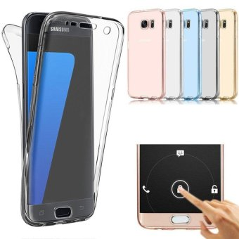 360 Degree Full Body Front and Back Cover Non-slip Shock-Absorption Protective Skin Shell Transparent Soft TPU Case for Samsung Galaxy S6 Edge - intl