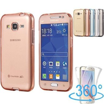 360 Degree Full Body Front and Back Cover Non-slip Shock-AbsorptionProtective Skin Shell Transparent Soft TPU Case for Samsung GalaxyJ3 (2016)/J310 - intl