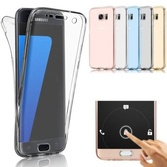 360 Degree Full Body Front and Back Cover Non-slip Shock-AbsorptionProtective Skin Shell Transparent Soft TPU Case for Samsung GalaxyS6 Edge - intl