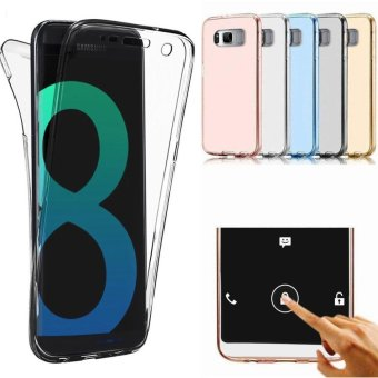 360 Degree Full Body Front and Back Cover Non-slip Shock-AbsorptionProtective Skin Shell Transparent Soft TPU Case for Samsung GalaxyS8 - intl