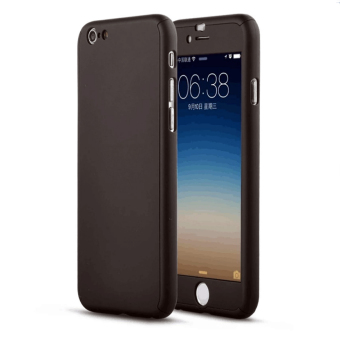 360 Degree Full Plastic Cover Case for Apple iPhone 4 4S (Black)