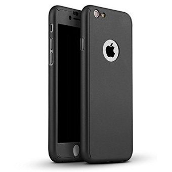 360 Degree Full Plastic Cover Case for Apple iPhone 5 5S (Black)
