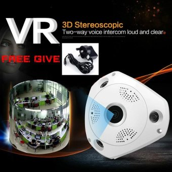 360 Degree Panorama CCTV Camera Wifi 960p HD Wireless VR IP CameraRemote Control Surveillance Camera P2P Indoor Cam - intl