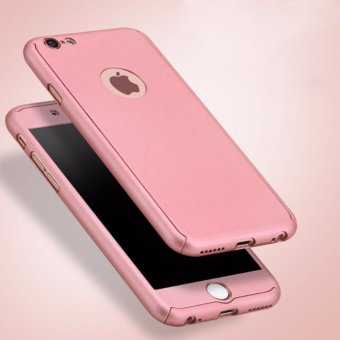 360 Degree PC Hard Phone Case Front and Back Full Cover withTempered Film Glass Screen Protector for Apple iPhone 6 Plus /6sPlus 5.5 inch(Rose Gold) - intl - 2