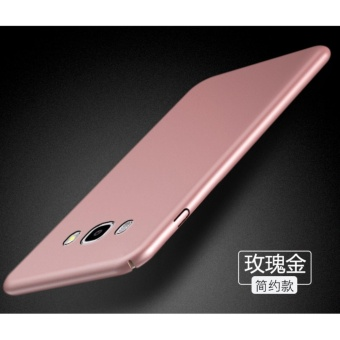 360 Degree Protective Case Ultra Thin PC Hard Case for Samsung Galaxy J7 2015(Rose gold) - intl