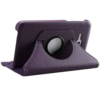 360 Degree Rotating PU Leather Case For Samsung Galaxy Tab3V(Purple)