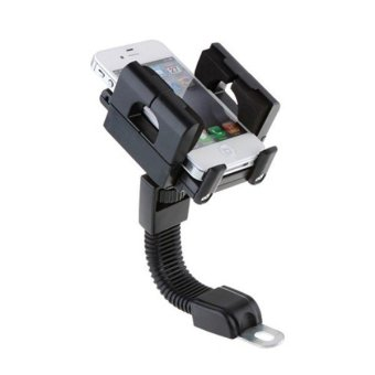360 Degree Rotation Phone GPS Mount Holder for Motorcycle (Black)