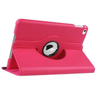 360-degree Rotation PU Leather Case for Apple iPad Mini 1/2/3(Pink)