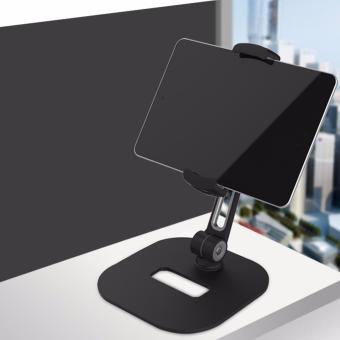 360 Degrees Rotation and Adjustable Height Cell Phone and Tablet Stand (Black) - 4