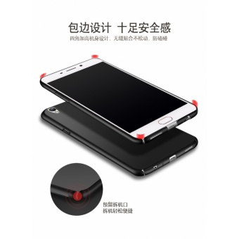 360 degrees Ultra-thin PC with Metal Ring Hard case phone case forOppo F3 Plus(Red - intl - 5