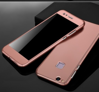 360 Full Body Coverage Protection Hard Slim Ultra-thin Hybrid Case Cover & Skin with Tempered Glass Screen Protector for Huawei P10 Lite (Rose Gold) - intl