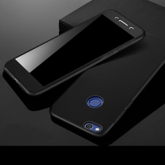 360 Full Body Coverage Protection Hard Slim Ultra-thin Hybrid Case Cover & Skin with Tempered Glass Screen Protector for Huawei P8 Lite 2017 (Black) - intl