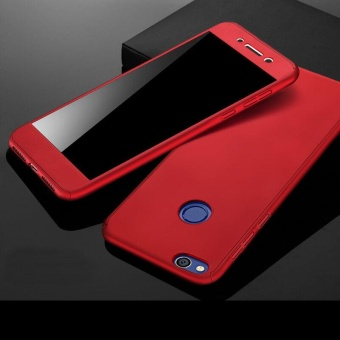 360 Full Body Coverage Protection Hard Slim Ultra-thin Hybrid Case Cover & Skin with Tempered Glass Screen Protector for Huawei P8 Lite 2017 (Red) - intl