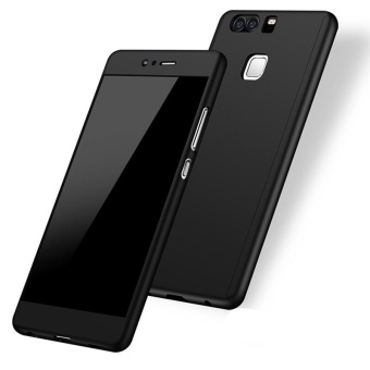 360 Full Body Coverage Protection Hard Slim Ultra-thin Hybrid Case Cover & Skin with Tempered Glass Screen Protector for Huawei P9 Lite (Black) - intl - 3
