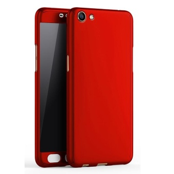 360 Full Body Coverage Protection Hard Slim Ultra-thin Hybrid Case Cover & Skin with Tempered Glass Screen Protector for OPPO F1s / A59 (Red) - intl