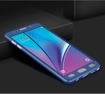 360 Full Body Coverage Protection Hard Slim Ultra-thin Hybrid Case Cover & Skin with Tempered Glass Screen Protector for Samsung Galaxy J7 Prime - intl - 2