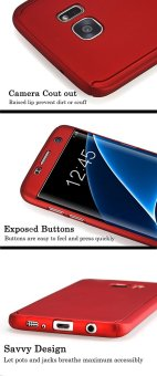 360 Full Body Coverage Protection Hard Slim Ultra-thin Hybrid Case Cover for Samsung Galaxy S6 Edge (Red) - intl - 2