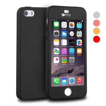360 Full Body Coverage Protection Hard Slim Ultra-thin Hybrid CaseCover & Skin with Tempered Glass Screen Protector for AppleiPhone 5/5s/SE - intl Price Philippines