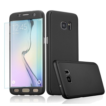 360 Full Body Coverage Protection Hard Slim Ultra-thin Hybrid CaseCover with Tempered Glass Screen Protector for Samsung Galaxy NOTE4 (Black) - intl Price Philippines