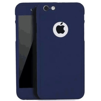 360 Full Cover Plastic Case with Tempered Glass For Apple iPhone5/5s (Blue)