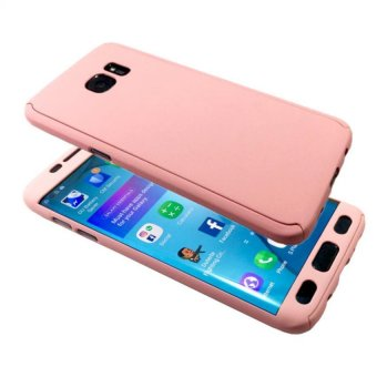 360 Full Protection TPU/PC Cover Case For Samsung Galaxy A710 A72016- Light Pink