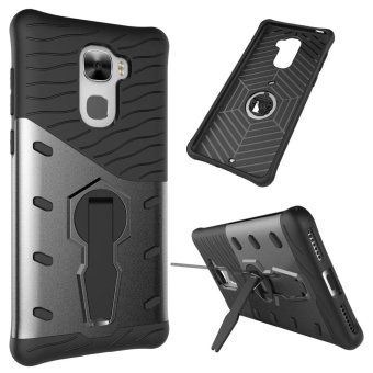 360 Rotating Armor 2 in 1 PC and TPU Soft Gasbag Stand Back CaseCover For Letv LeEco Le Pro 3 X720 Case - intl