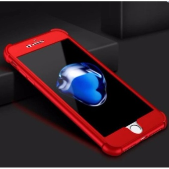 360 Shockproof Case for Apple iPhone 7 (Red)