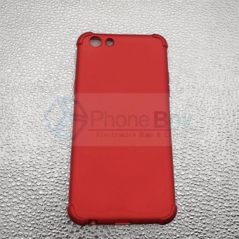 360 Shockproof Case for Oppo F3 (red) - 2