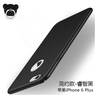 360 ultra-thin matte PC hard Cover Case For iPhone 6 Plus(6s Plus (Black+Bear ring) - intl