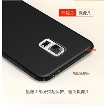 360 ultra-thin matte PC hard Cover Case For S amsung Galaxy Note 4(Black) - intl - 3