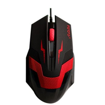 3D 1600DPI Wired Optical Gaming Mouse Mice For Laptop PC DesktopRed Price Philippines
