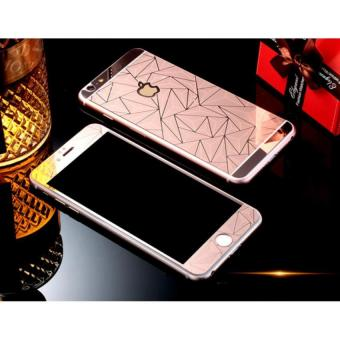 3D Diamond Style Front and Back Tempered Glass for iPhone 5/5S(Rose Gold)