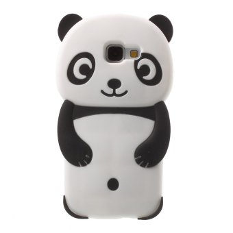 3D Panda Silicone Protective Case for Samsung Galaxy A5 SM-A510F2016 (Black) - intl