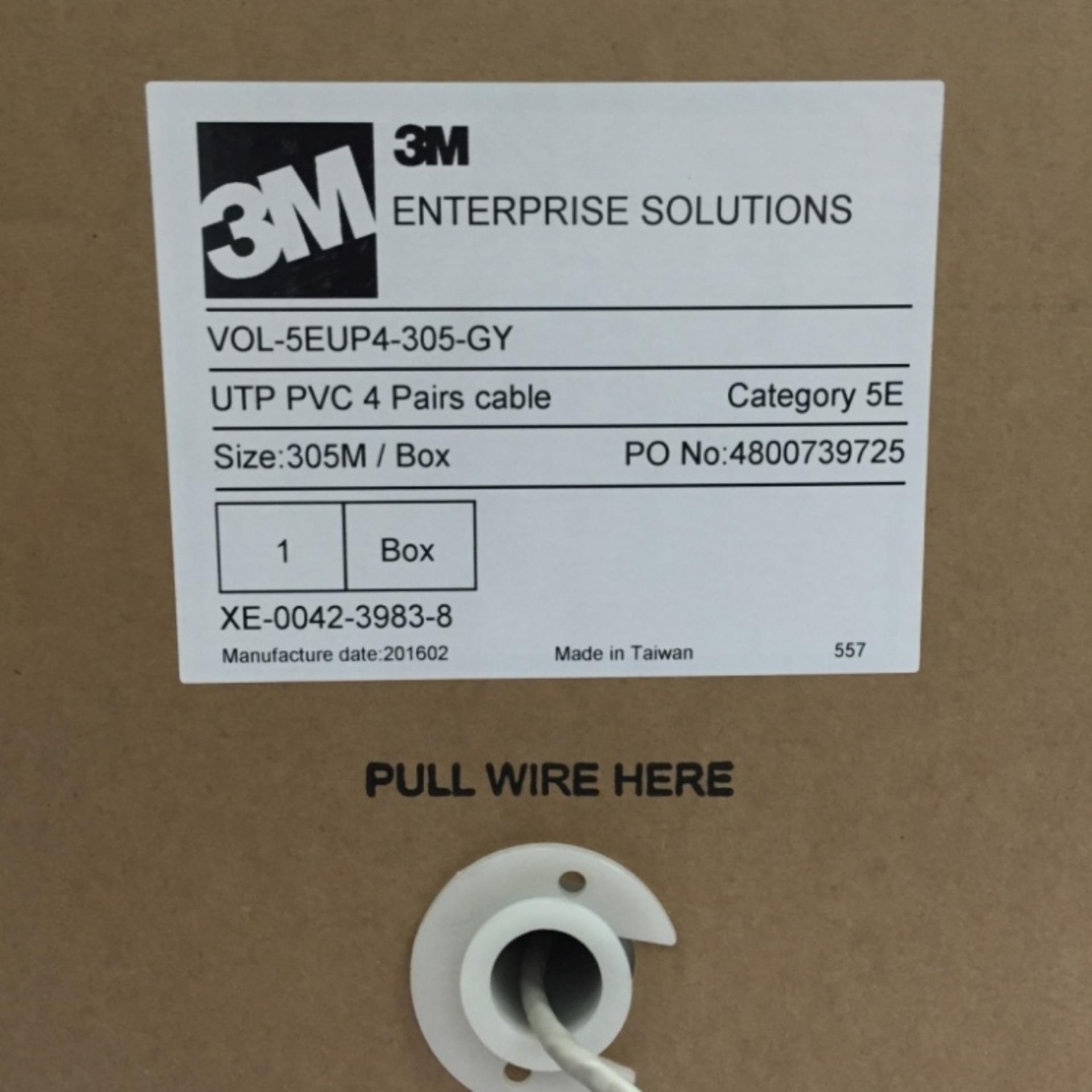 Philippines 3m 305m Pvc Volition Cat5e 4 Pair Copper Utp Cable Cat6 U Pairs Grey