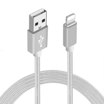 3M Premium Nylon Braided Lightning USB Cable Sync and Charging Cord Compatible with iPhone 7 7 Plus 6 6s 6 plus 6s plus 5 5s 5c se iPad iPod & More - intl