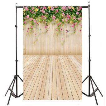 3x5ft Flower Wood Wall Vinyl Photography Model Backdrop Background Studio Props