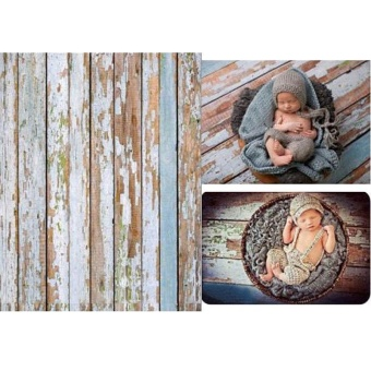 3x5FT Vinyl Studio Props Wooden Floor Newborn Baby BackDrop PhotoBackground - intl - 4