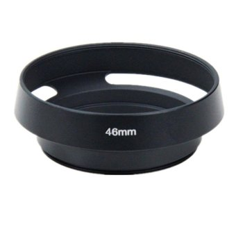 46mm Metal Vented Lens Hood for 46mm Filter Thread