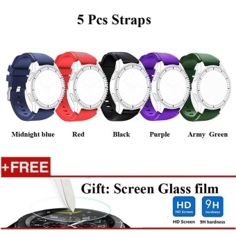 5 Pcs Sports Silicone Bracelet Strap Band For Samsung Gear S3 Classic / S3 Frontier - intl