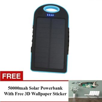 50000mAh USB Solar Charger Power Bank With Free 3D WallpaperSticker