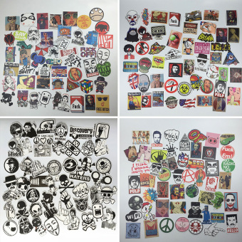 50pcs Waterproof Funny Car Skateboard Snowboard Laptop Luggage Bike Stickers