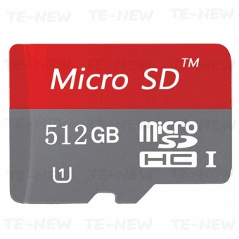 512GB Class 10 Micro memory SD card with Adaptor (Red) - intl